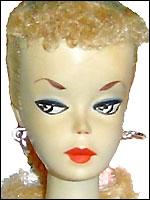 винтажная кукла Барби 1959 Barbie #1