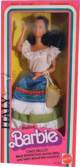 Коллекционная кукла Барби <u>прически убранные наверх фото</u> Italian Barbie 1979 1980