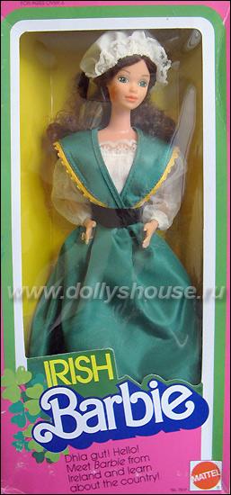 Коллекционная кукла Barbie ирландка Irish Barbie 1983