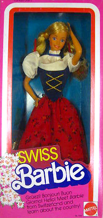 Кукла Барби швейцарка Swiss Barbie 1984
