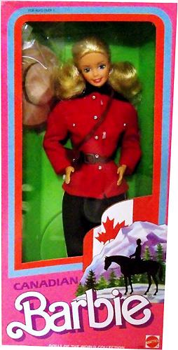 Канадская кукла Барби Canadian Barbie 1987
