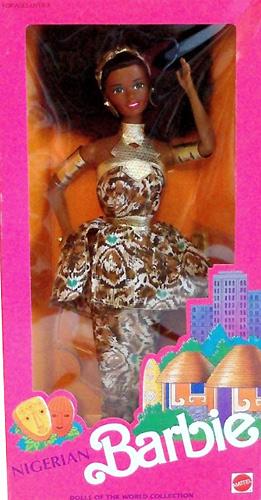Чернокожая Барби коллекционная Nigerian Barbie 1990