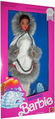 коллекционная кукла эксимос Eskimo Barbie