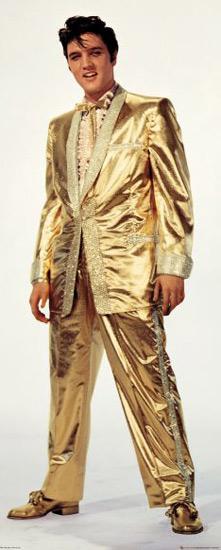 Золотой костюм Элвиса Пресли и Барби
