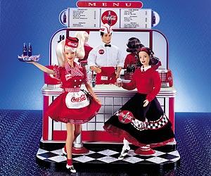 Soda Fountain кафе 50-х Барби