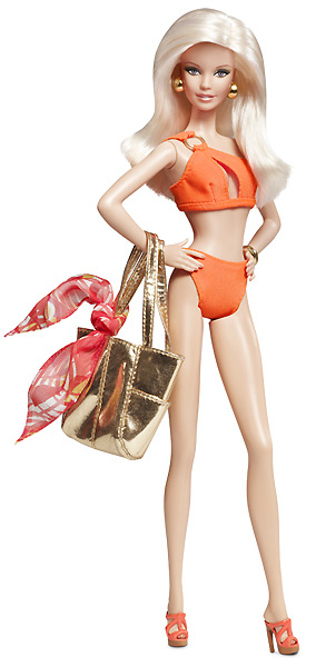 Коллекционная кукла Барби Афродита Кентукки пляжная