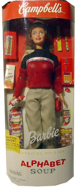 Игровая кукла Барби Кэмпбелл Суп Barbie Campbell Soup Энди Уорхол