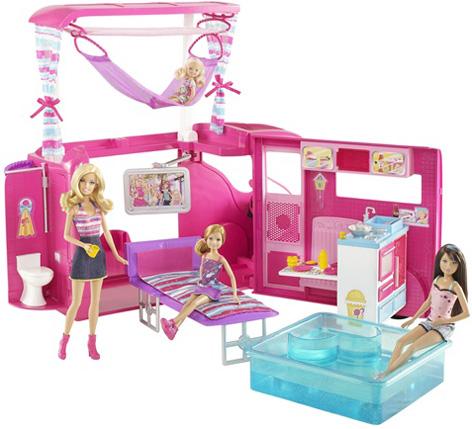 автокемпер дом на колесах для кукол Барби Barbie Sisters Go Campeng Camper