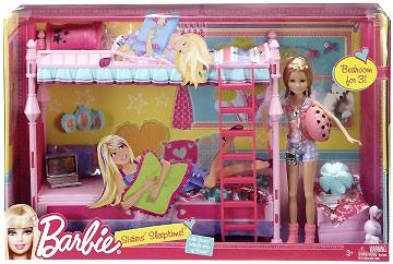 кровать для куклы Барби набор сестры Барби Barbie Sleeptime Fun