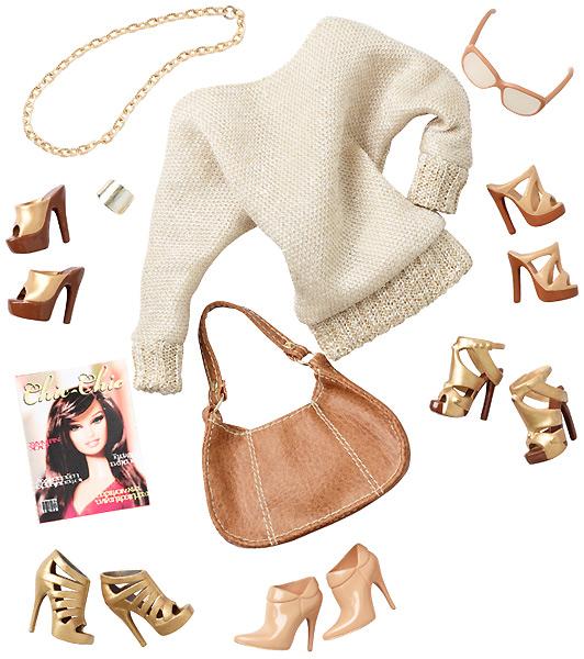 набор аксессуаров и одежды Барби Basics Джинсовая коллекция