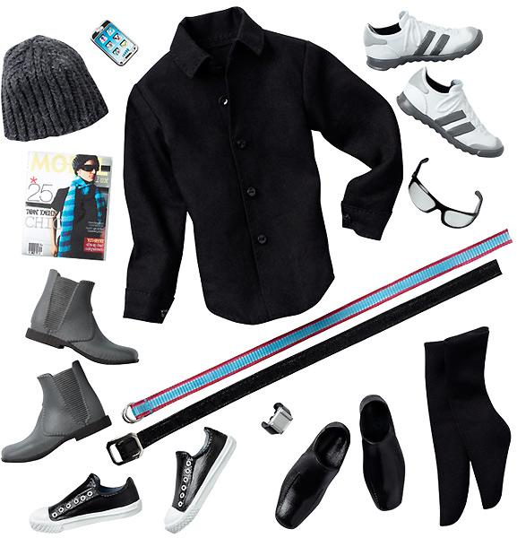 набор аксессуаров и одежды Кена Basics Джинсовая коллекция