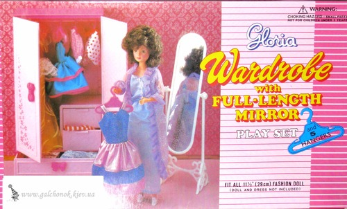 Мебель для кукол Глория и кукла Gloria (Бетти) на фото