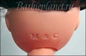 Клеймо на голове куклы Бетти