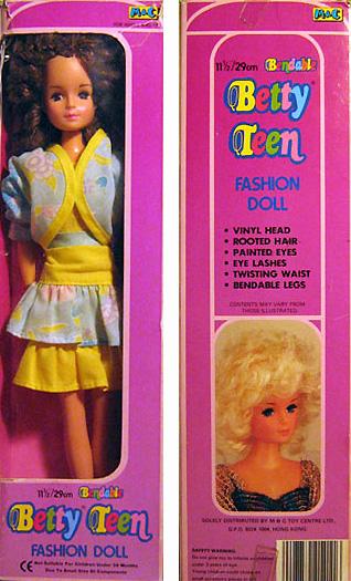 Винтажная кукла Бетти в коробке. Betty Teen, Betty Tong