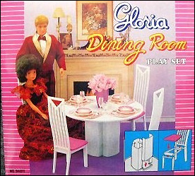 Кукольная мебель Глория и кукла Gloria (Бетти) на фото