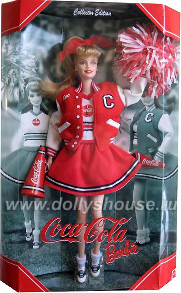 коллекционная кукла Барби чирлидер Кока-Кола