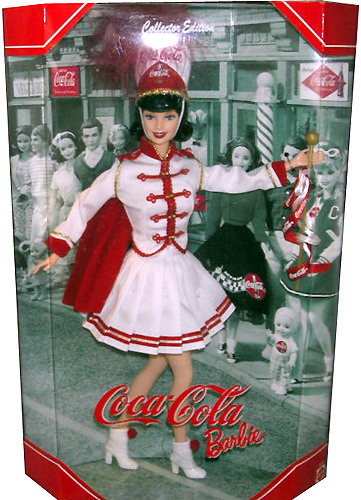 Коллекционная кукла Барби мажоретка Кока-Кола