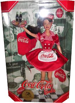 Coca Cola Waitress Barbie Барби Кока-Кола брюнетка конвенционная