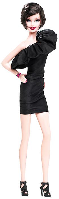 Кукла Барби маленькое черное платье с розовым