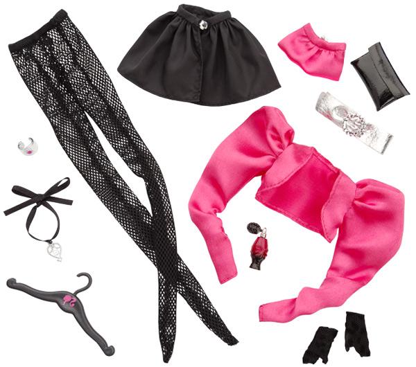 коллекция аксессуаров куклы Барби маленькое черное платье
