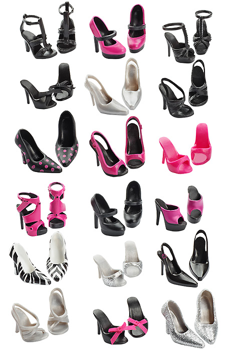 набор обуви для куклы Барби
