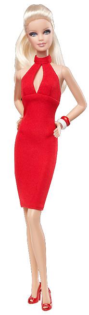 Коллекционная кукла Барби красная Target
