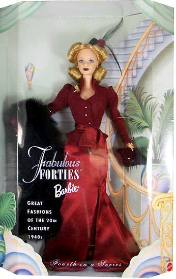 Коллекционная кукла Барби в вечернем платье в стиле 40-х