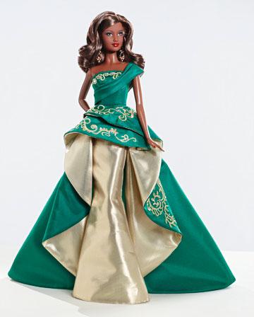 коллекционная кукла Барби темнокожая Holiday 2011 рождественская
