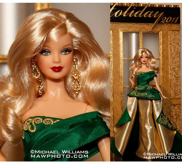 коллекционная кукла Барби Holiday Barbie 2011 Праздничная Барби