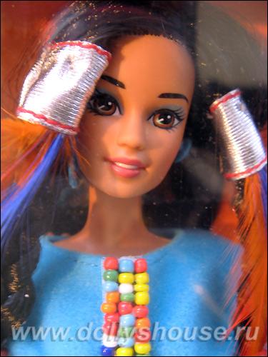 Кукла Барби в индейском костюме молд Teresa