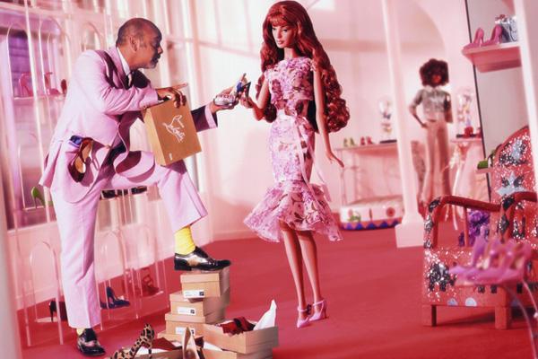 Фото кукла Барби и Кристиан Лабутен Christian Louboutin