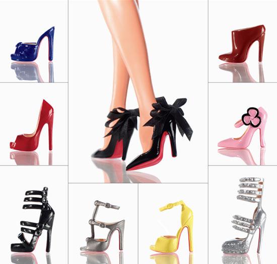 Обувь от Кристиана Лабутена для куклы Барби