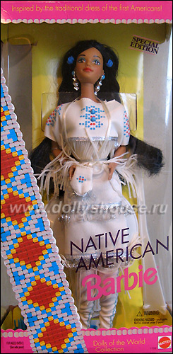 Коллекционная кукла индианка Барби Native American Barbie