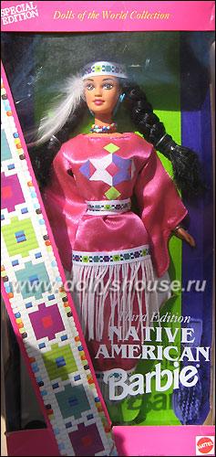 коллекционная кукла индейская Барби