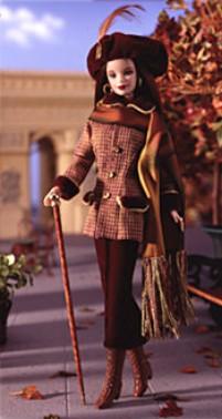 Коллекционная кукла Барби осень в Париже Autumn in Paris