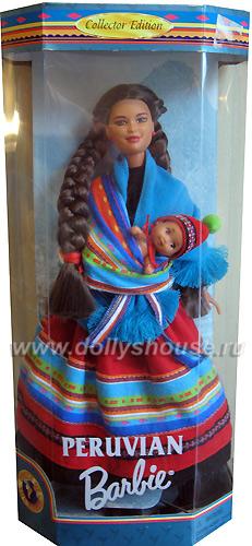 Кукла Барби перуанка с младенцем в слинге