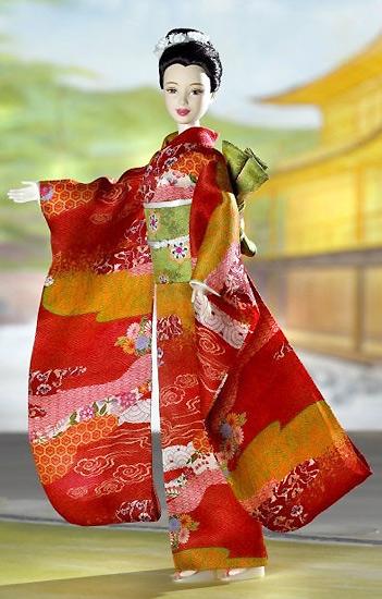 коллекционная кукла принцесса Японии в кимоно
