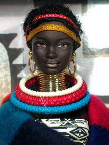 Темнокожая Барби принцесса Африки