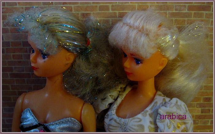 Куклы с люрексом в волосах