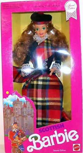 шотландская кукла Барби Scottish Barbie