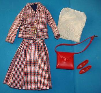 винтажный аутфит для куклы Фрэнси Checkmates