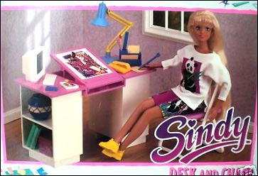 Кукольная мебель стол и парта Синди Sindy