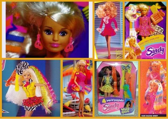 Игровые куклы Синди 90-х наклейки и вкладыши Sindy