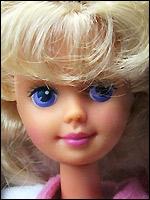 Лицо куклы Скиппер Skipper в 1988 году