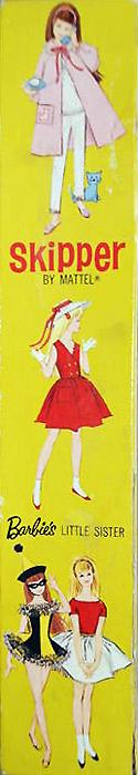 коробка винтажной куклы скиппер Skipper 1964