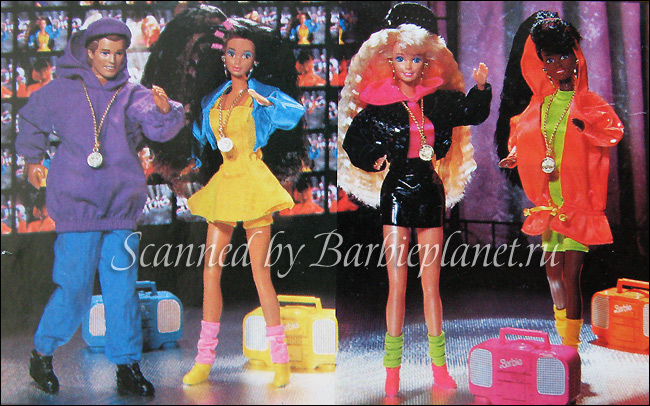 Куклы Барби 90-х серия Rappin' Rockin'