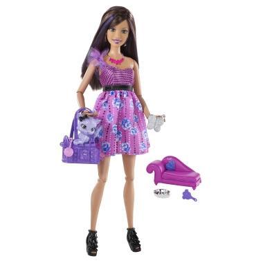 шарнирная кукла Барби с питомцем Смени Свой Стиль Sassy