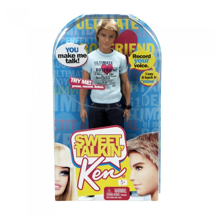 кукла говорящий Кен в коробке