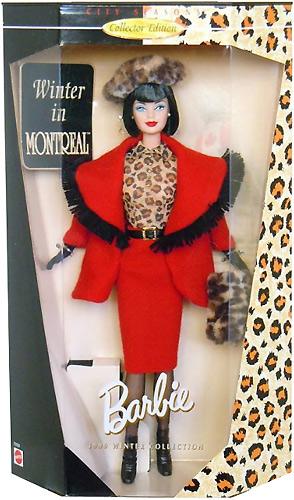 Коллекционная кукла Барби Зима в Монреале