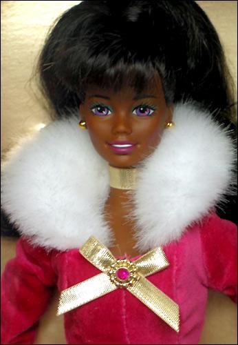 темнокожая кукла Барби Winter Rhapsody